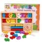 �和�益智玩具木制算�g�底�W�盒 ������W早教教具科教玩具�e木